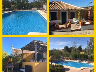 Walnut Farm 2 villas, superb location, sleeps 9, stunning heated pool, bar,WIFI