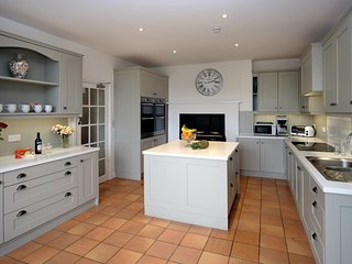 New kitchen fitted in January 2018 with 3 oven Aga, 2 fridges, 2 dishwashers, 2 double ovens, hob