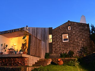 Private stone villa rental with sea view in the azores