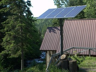 TIOGA FALLS CABIN: Very Secluded cabin with waterfalls right outside door, 80 ac