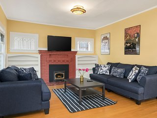 The cozy living room is the perfect place to relax with your travel companions.
