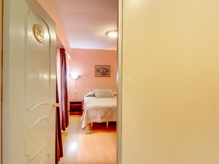 Hotel room with central location, internet access, on-site free breakfast!