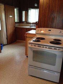 Entrance, sink, stove