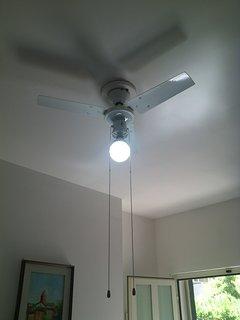 Ventola a soffitto ingresso/soggiorno