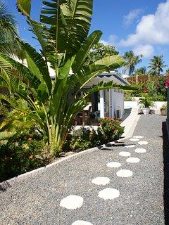 L'entrée de la villa Mabouya.