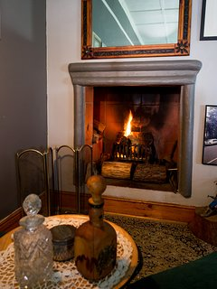 Warm and working fireplace for those cold nights.