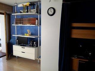 Appartement face aux pistes, calme et ensoleillé.