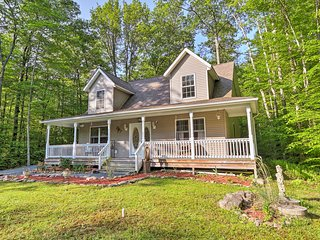 NEW! Pocono Lake House w/ Porch, Deck & Fire Pit!