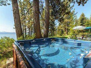 4BR Lakefront Escape w/ Private Beach, Hot Tub & Buoy-Near Skiing & Bike Path