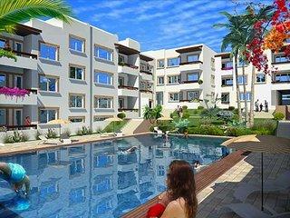 Appartement avec piscine à côté de la plage Sablette