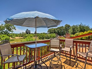 Enjoy a private patio at this Sebastopol vacation rental.