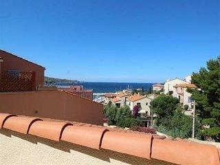 Beau studio avec terrasse, vue sur mer, parking