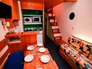 Studio duplex dans residence calme avec acces aux pistes
