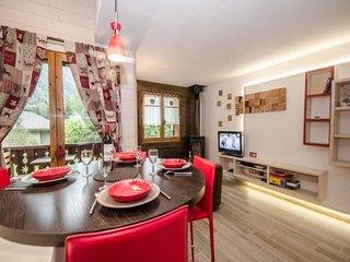 Bel appartement avec poêle à bois dans un chalet pour 4 personnes