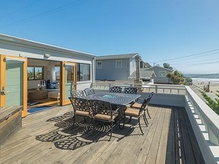 40' to Beach! Upscale Bungalow w/ Ocean Views, Hot Tub, Deck & Fire Pit