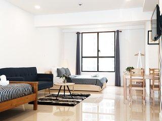 Studio Apartment at 4-star condo in CBD/free infinity pool & gym/Suitable 1-3ppl