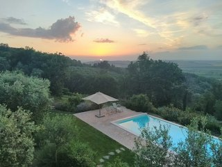 Luxury sunset view villa with private pool and cooking school