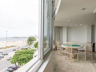 Apartamento 4 quartos vista mar em Copacabana