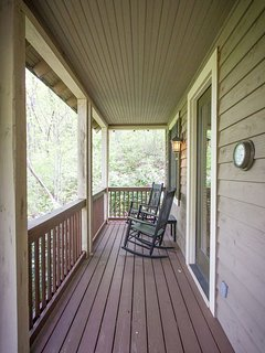 Great Porch for rocking and taking in the mountain air