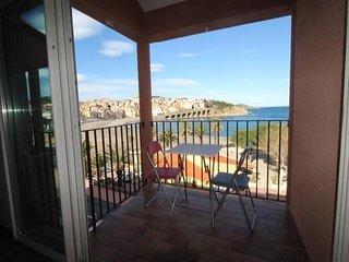 Appartement plein centre de Banyuls sur mer, vue imprenable sur la mer et les ar