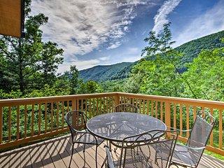 Maggie Valley Cabin w/Wraparound Deck & Mtn. Views