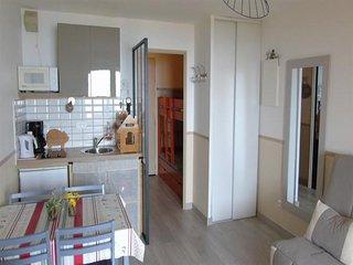 Appt studio cabine, wifi, terrasse vue sur mer