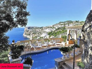 Villa for 10 people in Cala Llamp - ANDRATX - 5 Bedrooms- Satellite TV. Sea View