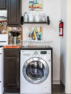 You will never need to worry about laundry with an in-unit all-in-one washer/dryer.