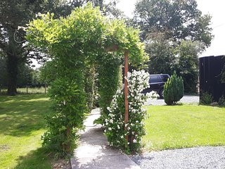 Scented pathway from the house to the carpark