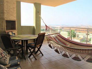 Two bedroom in Cala Flores with large terrace overlooking the Mar Menor