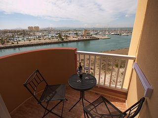 Bright two bedroom with views over the Marina