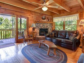 NEW LISTING! Gorgeous cabin w/ hot tub, forest views & entertainment - dogs OK