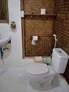 Room ensuite/ bathroom with hot and cold shower
