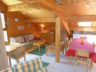 Appartement 8 personnes, beaux volumes, vue montagne, cheminée, garage
