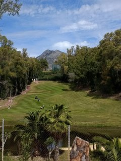 Torrequebrada golf course , under 5 minutes walk from the apartment