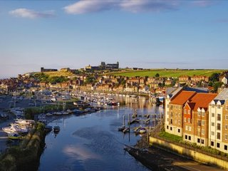 Whitby from the new bridge. Whitehall Landing is to the right of the picture.