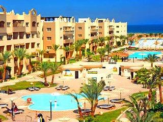 3 bedrooms apt at Nubia Aqua Beach Resort pool,sea view, 5th floor with Elevator