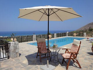Villa Elia with private pool and panoramic sea / olive grove views