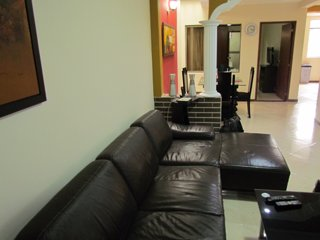 3 Bedroom Apartment terrace with hot tub. All King Beds