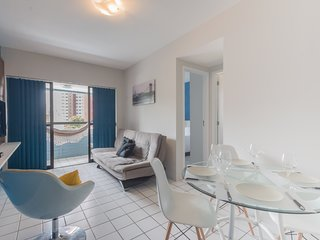 PIP201 Pleasant flat in Boa Viagem up to 4 people close to mall and restaurants