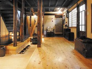 Japanese traditional old wooden house