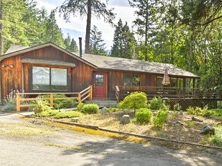 NEW! Talent Home w/Wraparound Deck on 5 Lush Acres