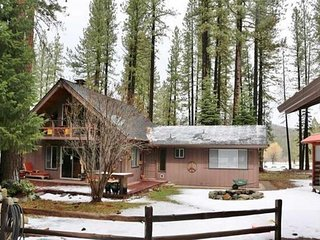 Family-friendly cabin w/ entertainment, fireplace & mountain views - dogs OK!