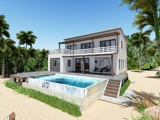 Brad NEW Caribbean BEACHFRONT Luxury Vacation Rental. Private CHEF, Pool & Pier