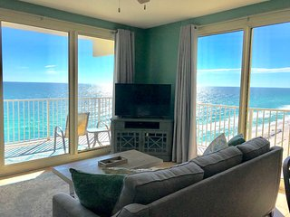 Oceanfront corner unit with wraparound balcony