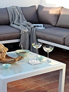 lounge setting on rooftop terrace