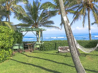 Hang in the hammock, have breakfast or sunset drinks in the ocean facing lanai, charcoal grill catch