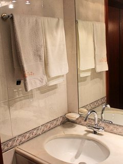 Bathroom for the superior double rooms