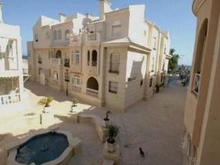 Apartment in Torrevieja complex facing blue flag beach your own roof terrace