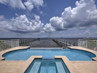 Lavish Waterfront Home w/ Pool & Shared Dock!